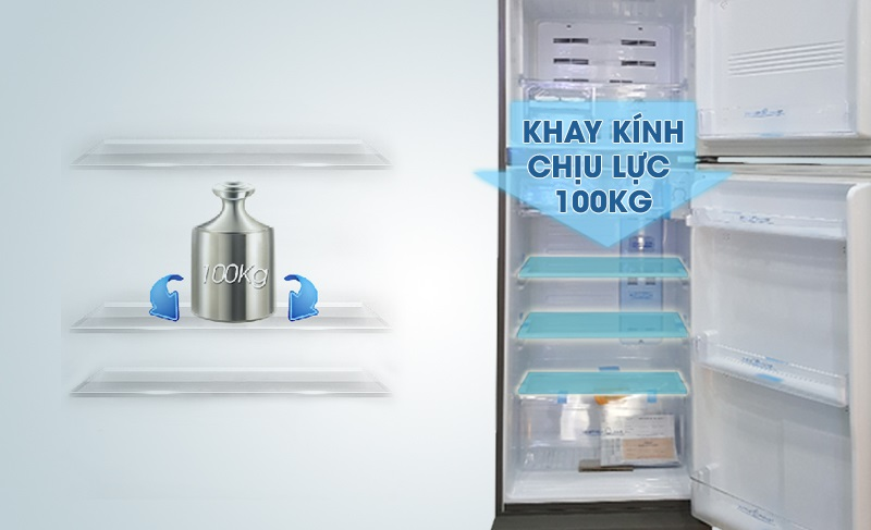Khay kính chịu lực của tủ lạnh Aqua 207 lít AQR-P235BN