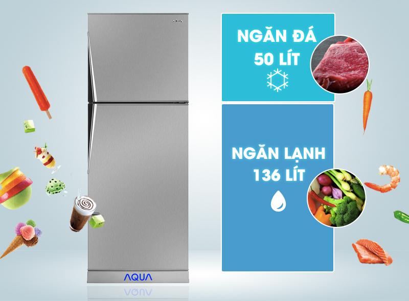 Thiết kế tủ lạnh hai cửa quen thuộc
