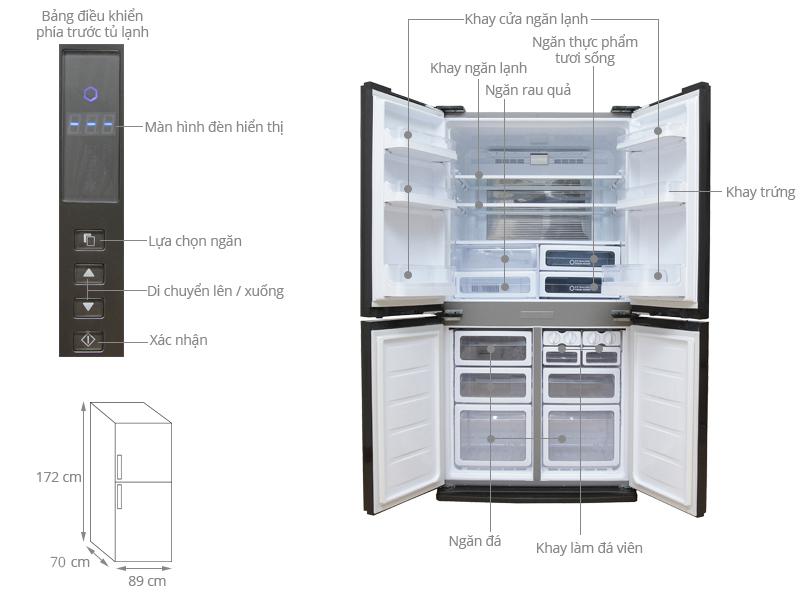Thông số kỹ thuật Tủ lạnh Sharp Inverter 556 lít SJ-FX630V-ST