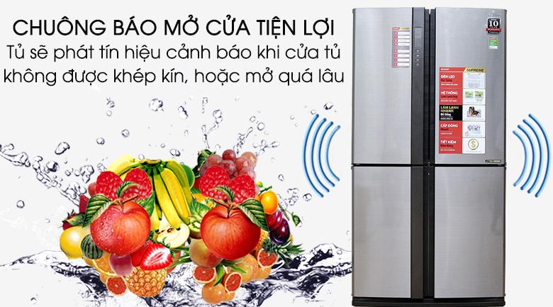Tủ lạnh Sharp 626 lít SJ-FX630V-ST - Chuông báo mở cửa