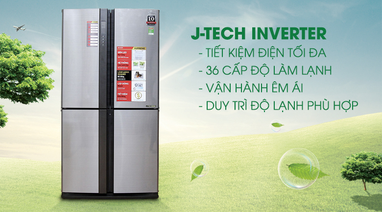 Tủ lạnh Sharp 626 lít SJ-FX630V-ST - Inverter