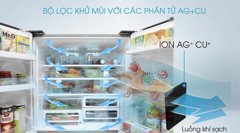 Tủ lạnh Sharp 626 lít SJ-FX630V-ST -  AG + CU