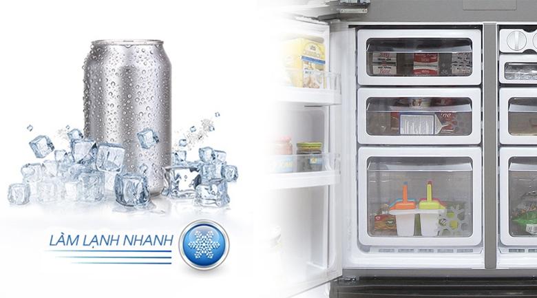 Tủ lạnh Sharp 626 lít SJ-FX630V-ST - Làm lạnh nhanh