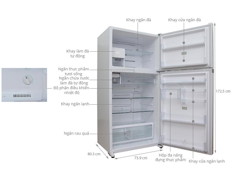 Thông số kỹ thuật Tủ lạnh Toshiba 546 lít GR-WG58VDAZ ZW