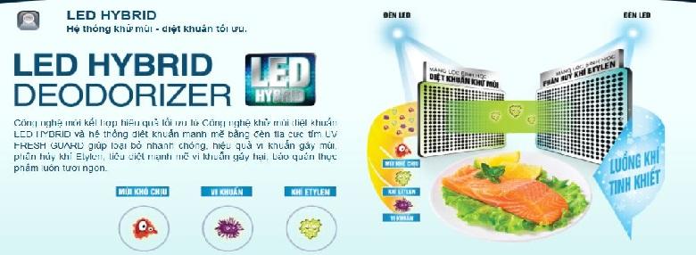 Vệ sinh tủ lạnh luôn được sạch sẽ nhờ LED Hybrid Deodorizer và tia UV