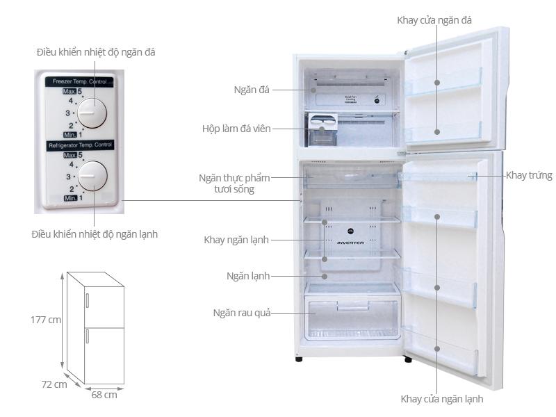 Thông số kỹ thuật Tủ lạnh Hitachi 395 lít R-VG470PGV3 GPW