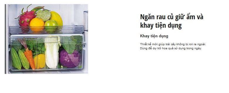 Tủ lạnh Panasonic NR-BL307XNVN – Ngăn đựng rau củ