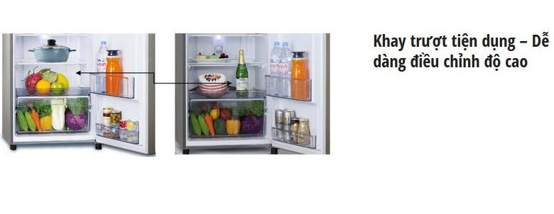 Tủ lạnh Panasonic NR-BL307XNVN – Khay trượt đem lại nhiều tiện ích cho gia đình