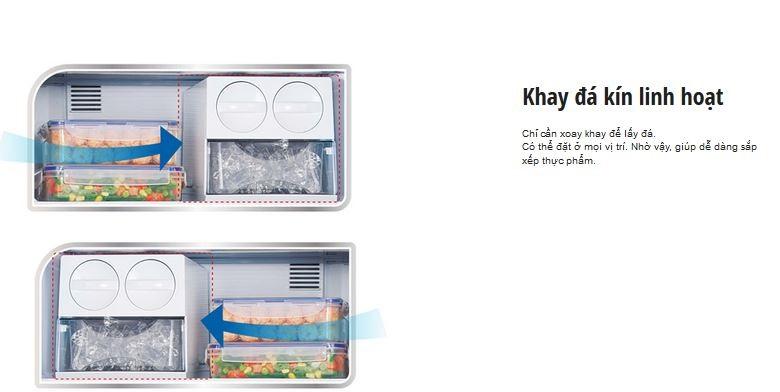 Tủ lạnh Panasonic NR-BL307XNVN – Ngăn đựng đá có khả năng xoay khay dễ dàng