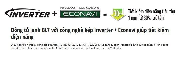 Tủ lạnh Panasonic NR-BL307XNVN – Sự kết hợp giữa công nghệ Inverter và cảm biến Enconavi làm nên khả năng tiết kiệm điện tối ưu