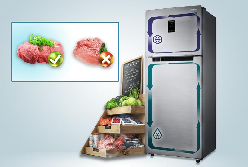 Giữ nguyên độ tươi ngon cho thực phẩm với công nghệ Twin Cooling Plus