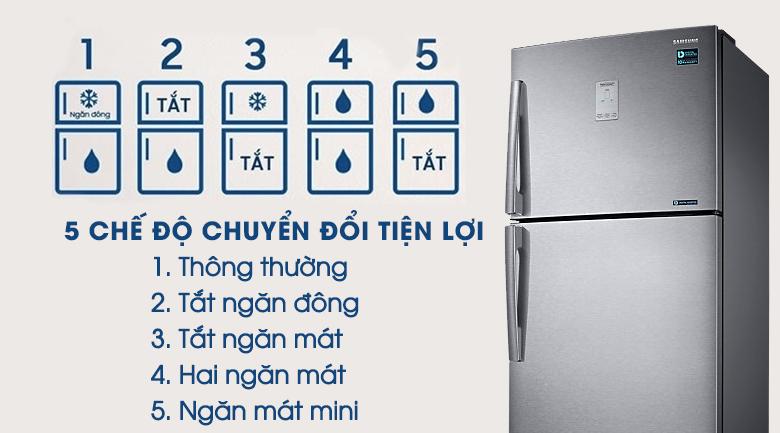 5 chế độ chuyển đổi - Tủ lạnh Samsung Inverter 443 lít RT43K6331SL/SV