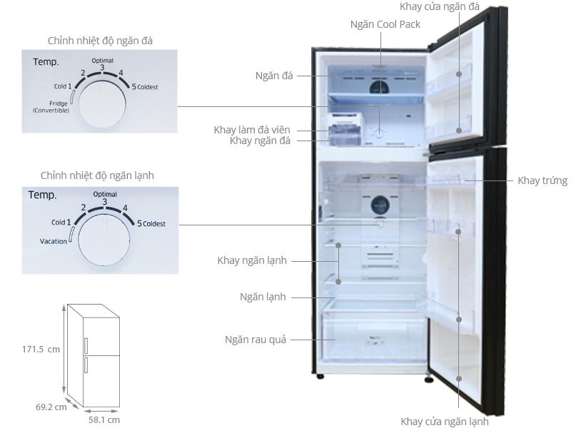 Thông số kỹ thuật Tủ lạnh Samsung 384 lít RT38K5032GL/SV