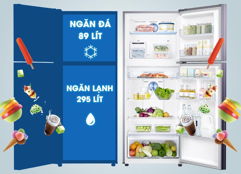 Với thiết kế sang trọng của mình, tủ lạnh Samsung RT38K5032GL/SV sẽ giúp cho căn bếp nhà bạn thêm sự đẹp mắt