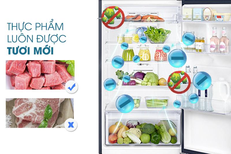 Công nghệ khử mùi nhờ than hoạt tính của tủ lạnh Samsung RT38K5032GL/SV sẽ tẩy sạch những chất gây ám mùi