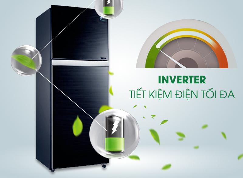 Tủ lạnh Samsung RT38K5032GL/SV được tích hợp công nghệ biến tần Inverter giúp tiết kiệm điện năng tiêu thụ ở mức tối đa