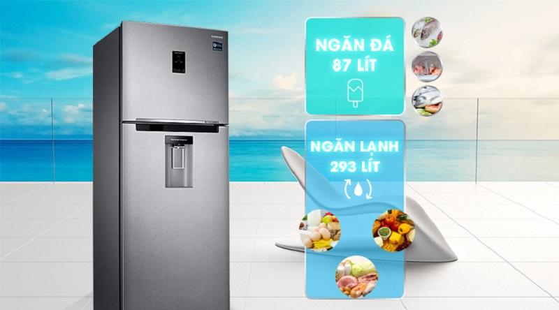 Dung tích lên đến 380 lít - Tủ lạnh Samsung Inverter 380 lít RT38K5982SL/SV