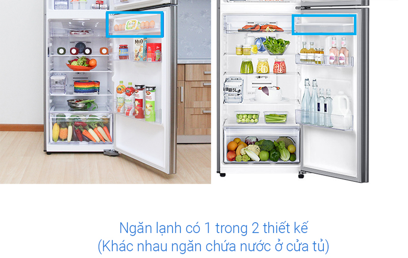 Samsung Inverter 380 lít RT38K5982SL/SV - Thiết kế ngăn lạnh