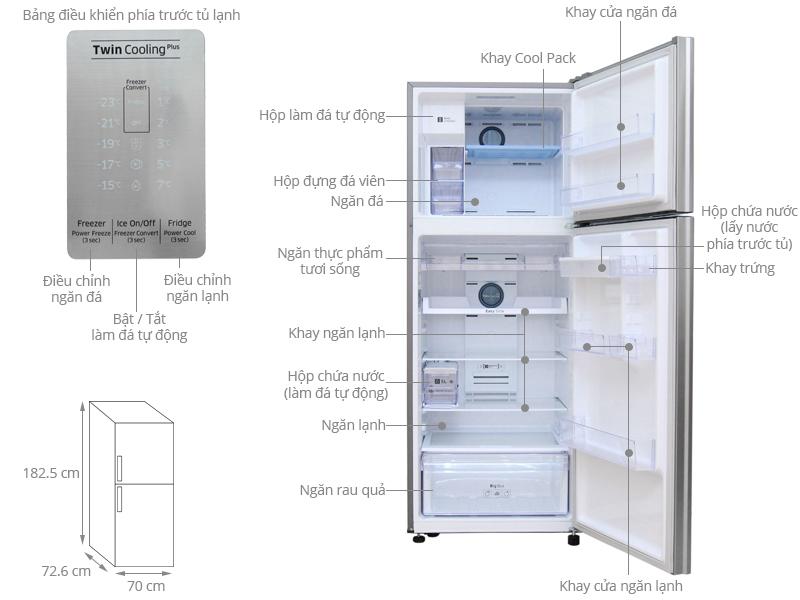 Thông số kỹ thuật Tủ lạnh Samsung Inverter 451 lít RT46K6836SL/SV