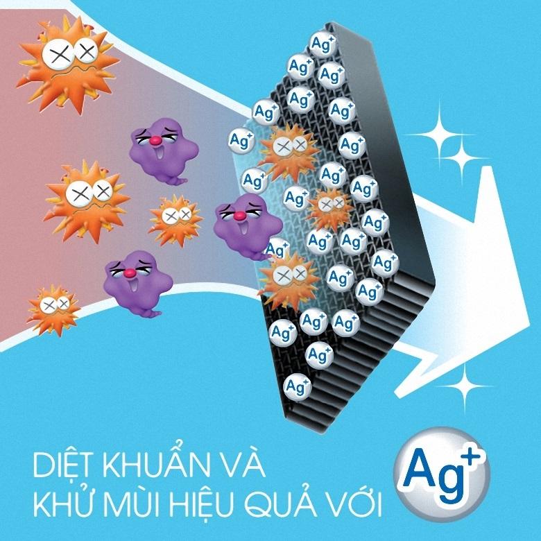 Công nghệ kháng khuẩn Nano Fresh Ag+ kháng kháng khuẩn hiệu quả
