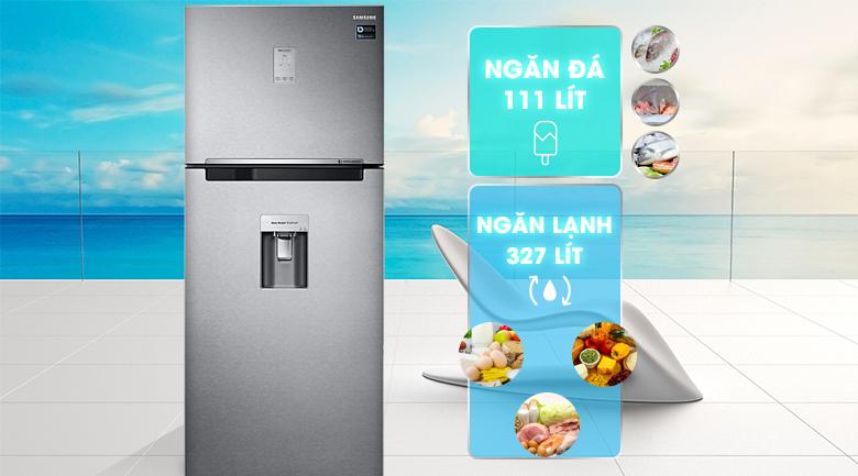 Dung tích 442 lít - Tủ lạnh Samsung Inverter 442 lít RT43K6631SL/SV