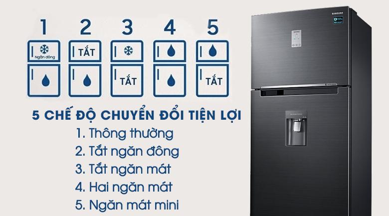 5 chế độ chuyển đổi - Tủ lạnh Samsung Inverter 502 lít RT50K6631BS/SV