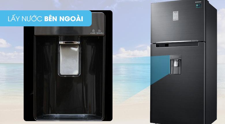 Tiện ích hơn với bảng điều khiển và lấy nước mát từ bên ngoài - Tủ lạnh Samsung Inverter 502 lít RT50K6631BS/SV