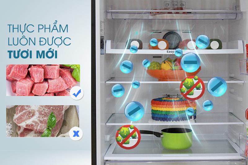 Nhờ than hoạt tính mà tủ lạnh Samsung RT50K6631BS/SV nay đã có thể loại trừ nhanh chóng các mùi khó chịu