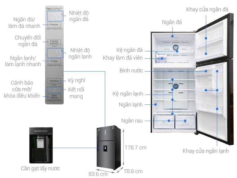 Thông số kỹ thuật Tủ lạnh Samsung Inverter 586 lít RT58K7100BS/SV