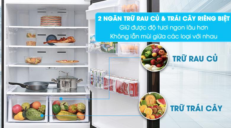 2 ngăn chứa rau củ, trái cây - Tủ lạnh Samsung Inverter 586 lít RT58K7100BS/SV