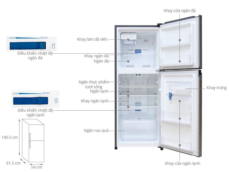 Thông số kỹ thuật Tủ lạnh Electrolux Inverter 211 lít ETB2100MG