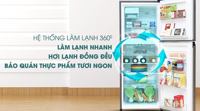 Hệ thống làm lạnh 360 độ  - Tủ lạnh Electrolux Inverter 211 lít ETB2100MG
