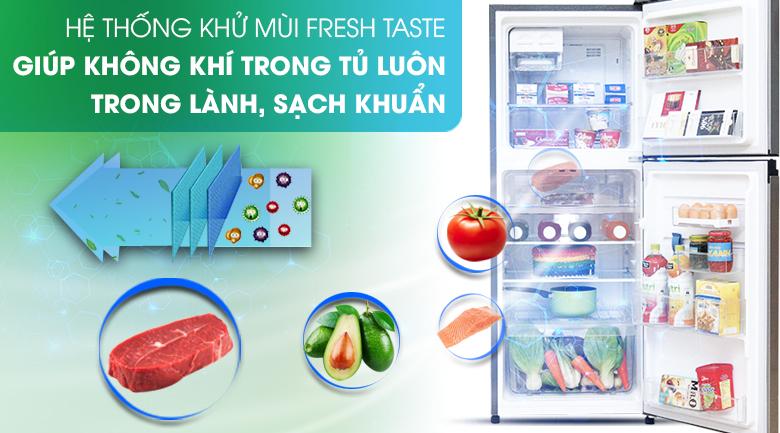 Hệ thống khử mùi FreshTaste loại bỏ đến 99.8% vi khuẩn và mùi khó chịu - Tủ lạnh Electrolux Inverter 211 lít ETB2100MG
