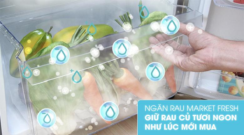 Ngăn FreshMarket giúp bảo quan rau củ tươi ngon lâu hơn - Tủ lạnh Electrolux Inverter 211 lít ETB2100MG