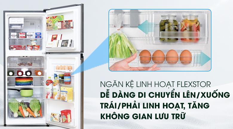 Ngăn kệ linh hoạt FlexStor - Tủ lạnh Electrolux Inverter 211 lít ETB2100MG