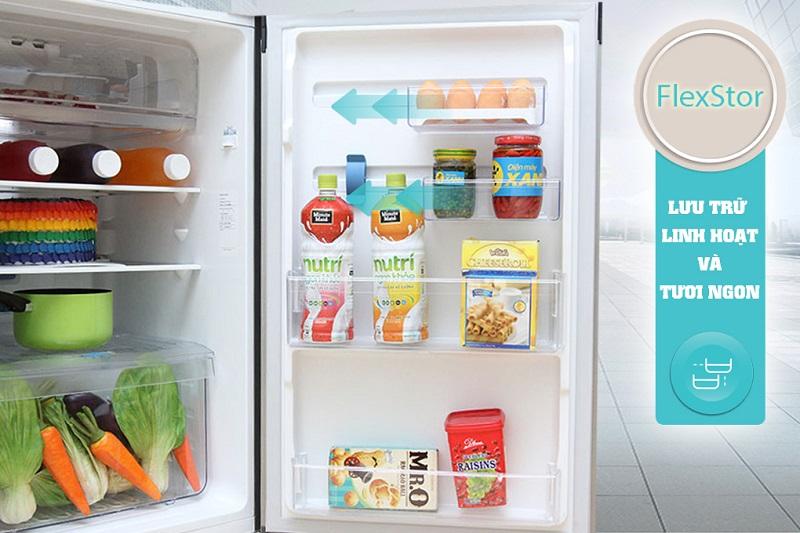 FlexStor đem đến cho tủ lạnh Electrolux ETB2100MG một khả năng điều chỉnh những ngăn tủ khác nhau