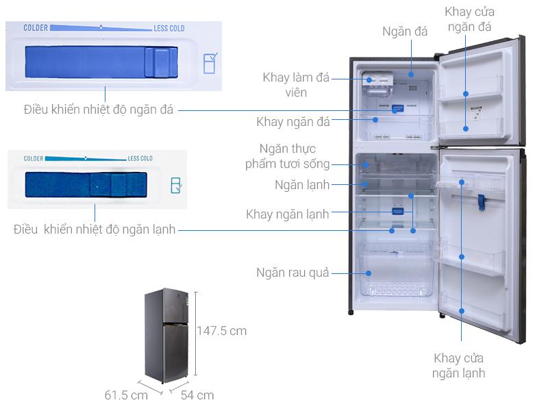 Thông số kỹ thuật Tủ lạnh Electrolux 225 lít ETB2300MG