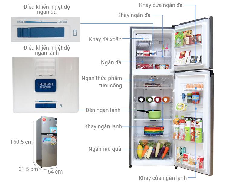 Thông số kỹ thuật Tủ lạnh Electrolux 254 lít ETB2600MG