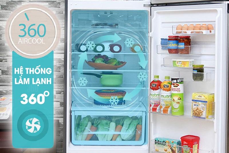 Tủ lạnh Electrolux ETB3200MG có hệ thống 360 độ làm lạnh