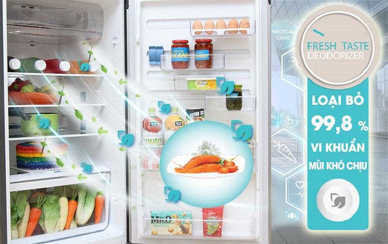 Công nghệ khử mùi của tủ lạnh Electrolux ETB3200MG đem đến sự khử mùi hiệu quả
