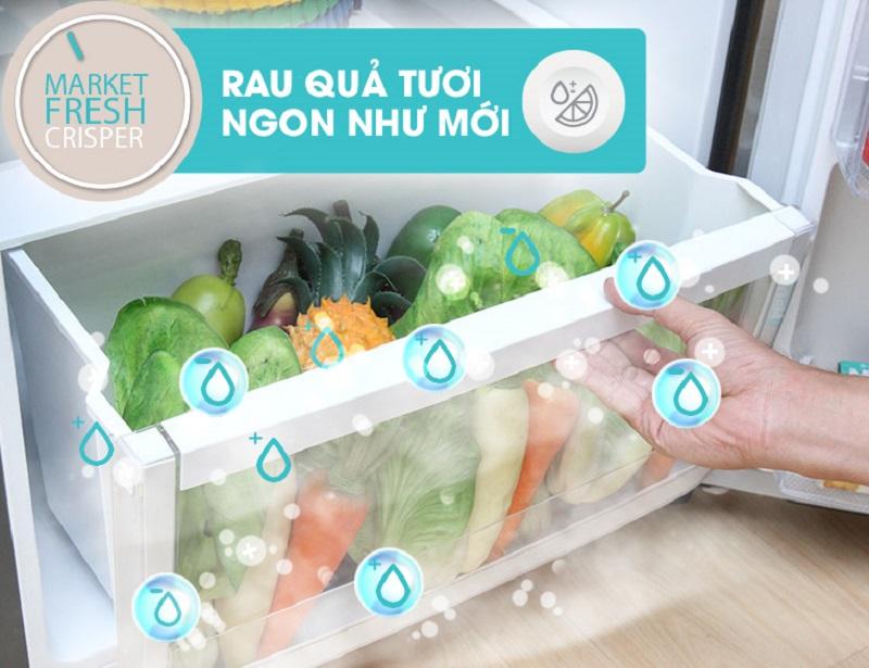 Ổn định độ ẩm là nhiệm vụ của ngăn FreshMarket