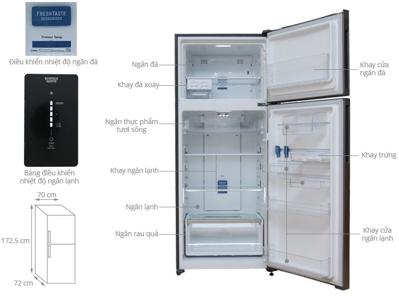 Thông số kỹ thuật Tủ lạnh Electrolux Inverter 500 lít ETB4602AA