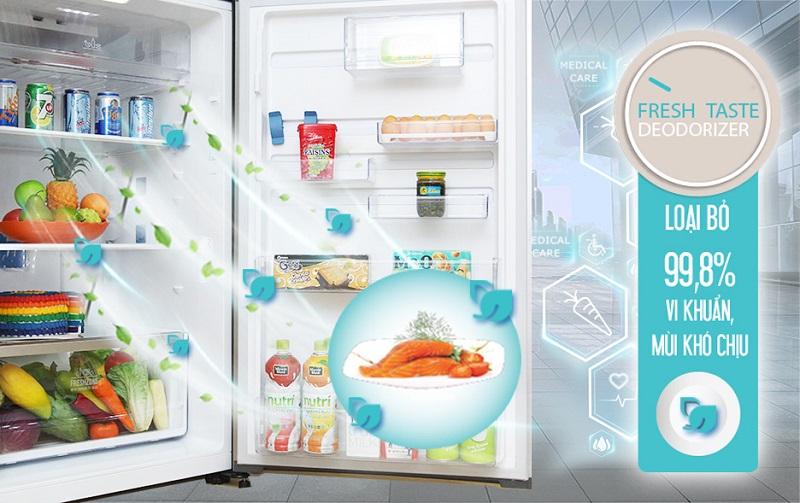 Công nghệ FreshTaste mang đến cho tủ lạnh Electrolux ETB4602AA khả năng diệt khuẩn cũng như khử mùi tối ưu