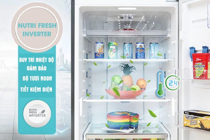 Với NutriFresh Inverter, tủ lạnh Electrolux ETB4602AA không chỉ làm lạnh tiết kiệm 37% điện năng