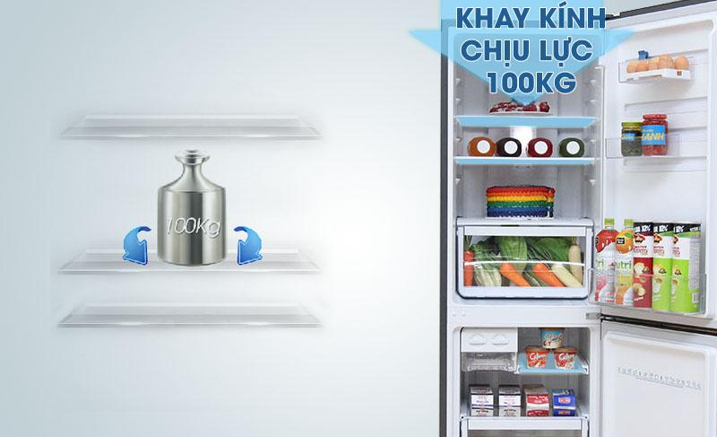 Khay kệ kính chịu được trọng lượng lên đến 100 kg