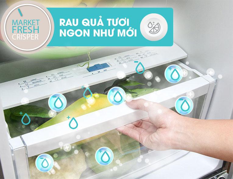 Ngăn rau quả Market Fresh điều chỉnh độ ẩm