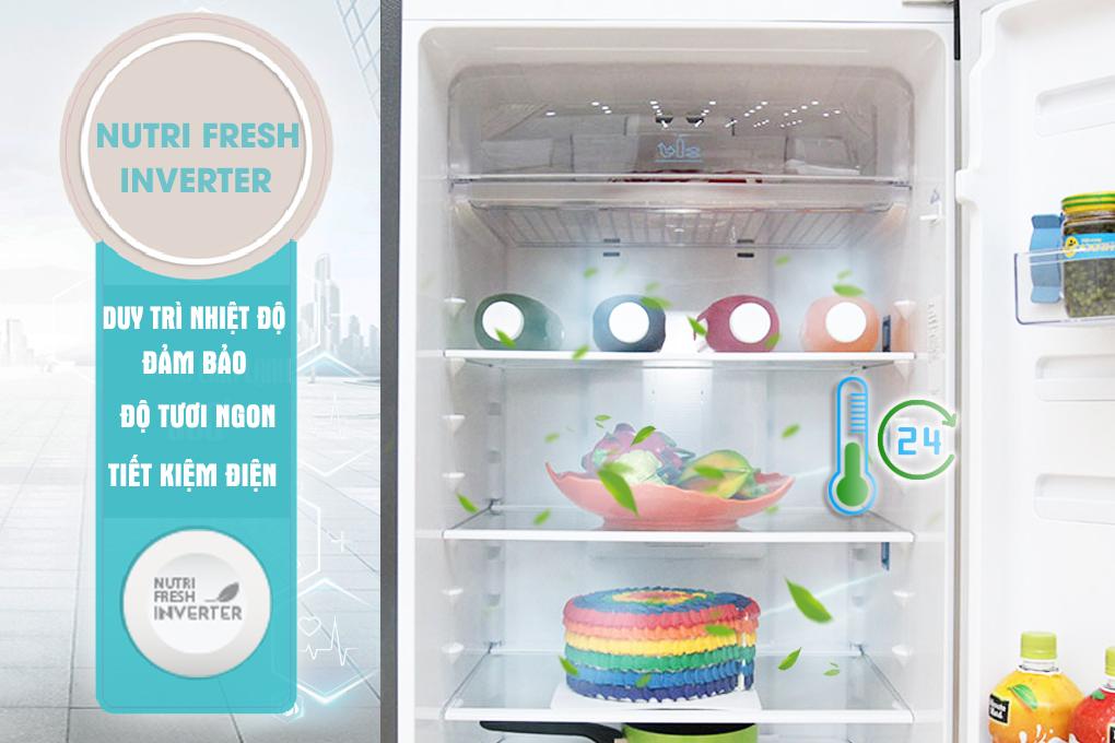 Công nghệ Nutri Fresh Inverter mang lại sự tươi ngon cho thực phẩm.