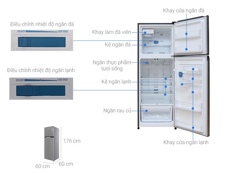 Thông số kỹ thuật Tủ lạnh Electrolux Inverter 369 lít ETB3500MG