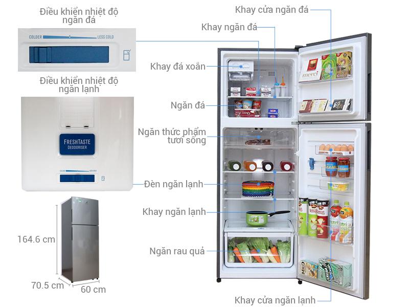 Thông số kỹ thuật Tủ lạnh Electrolux 321 lít ETB3202MG