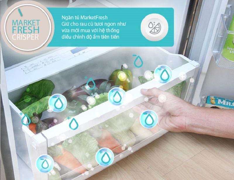 Ngăn rau củ MarketFresh giữ độ ẩm luôn ổn định